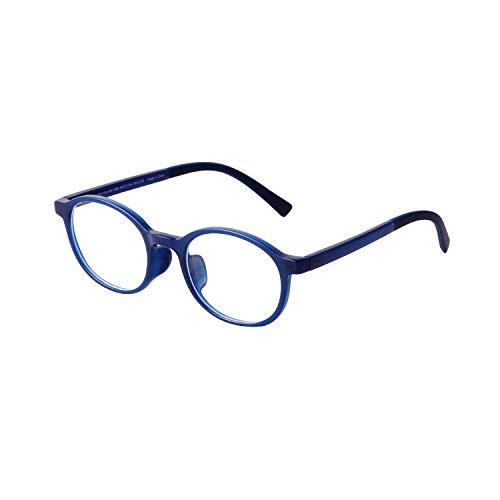ADE WU Kinderbrille Ohne Stärke Blaulichtfilter Rund Brillenfassung Brillengestell Anti Blaulicht Brillen TR90 Rahmen Anti Müdigkeit für Mädchen und Jungen