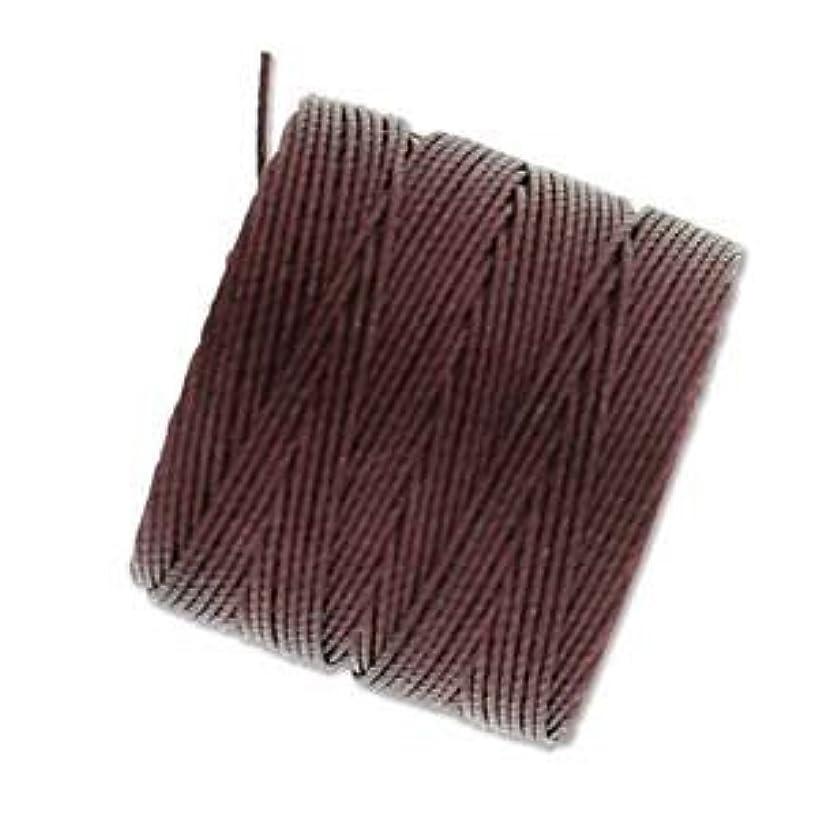 Bead Cord Nylon Superlon #18 Twisted 77 Yard Spool Bobbin BURGUNDY
