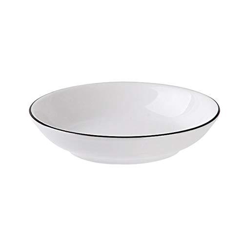 Aoliao Juego de vajilla de porcelana blanca para uso doméstico y uso diario