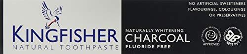 Kingfisher Carbone naturale sbiancante senza fluoro DENTIFRICIO (100ml)