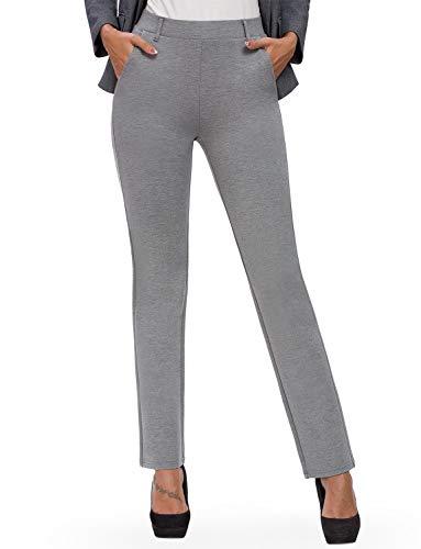 Bamans - Yoga-Hosen für Damen in Grau mit Taschen, Größe L