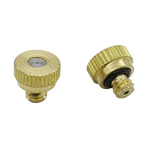 WLDSW 0,2-0,5 mm Baja presión de Agua de atomización con Boquilla de 4 mm con Rosca Macho Jardín de riego aspersores de refrigeración Industrial Boquilla 10 Piezas (Color : 0.4mm)