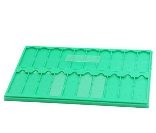 Plastic Microscope Slide Tray; 20 Capacity, One Pack (Green)