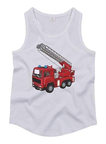 Tank Top - Feuerwehrwagen Drehleiter Cartoon Horn - Tops Unisex für Kinder - Jungen und Mädchen