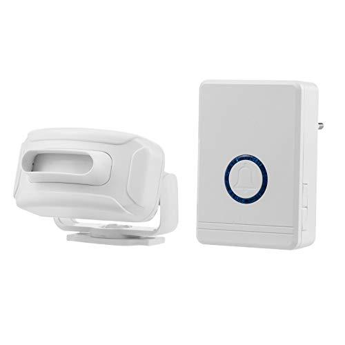 Festnight Alarma con sensor de movimiento, alarma de entrada, 1312 pies, inalámbrico, de largo alcance, detector de movimiento, alarma, timbre, sensor de puerta, timbre, resistente a la intemperie, ex