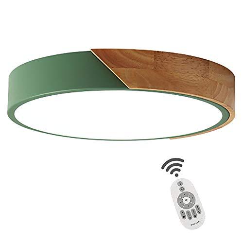 CCSUN Nórdico Ultrafino LED Plafón,30cm Verde Redonda Lámpara De Techo 1300-1500lm,18W Ahorro...