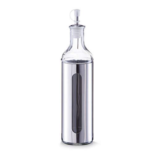 Zeller 19949 - Aceitera/vinagrera (500 ml, 6,5 x 28 cm, Cristal y Acero Inoxidable)