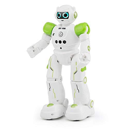 IPT CADY WIKE R11 ロボット おもちゃ 男の子 女の子 電動ロボット リモコン操作 ジェスチャーコントロール 歩く ダンス 英語 USB充電式 ◇JJRC-R11 グリーン