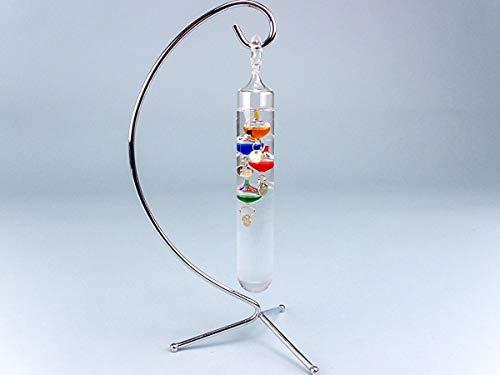 Thermomètre de Galilée sur pied 24 cm scientifique
