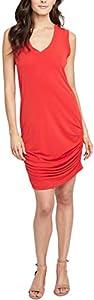 RACHEL Rachel Roy Womens Sleeveless Racerback Casual Dress Red M