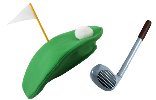 PUB GOLF HAT + INFLATABLE 92CM GOLF CLUB FANCY DRESS ACCESSORY SET CRAZY GOLFING NOVELTY KIT SPORTS PARTY