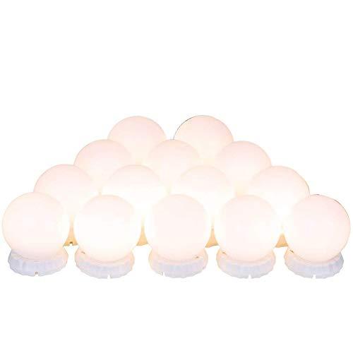 Mifive Vanity Lights LED Vanity Mirror Lights mit 14 Einstellbaren und Dimmbaren LED-Lampen Vanity Light für Make-Up Vanity Lights Aufkleben für Badezimmer und Ankleidezimmer Wei?