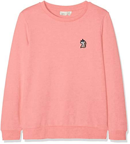 NAME IT Mädchen Sweatshirt NKFBERBEL LS Sweat UNB NOOS, Rosa (Rosa Geranium Pink), 146
