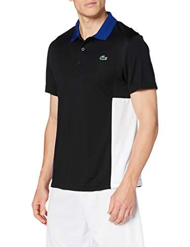Lacoste Sport Dh2053 Camisa de Polo, Negro/Blanco Cosmic-Blanc, M para Hombre
