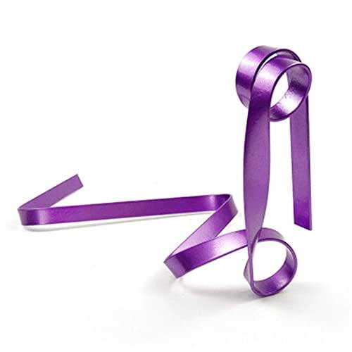 WWWL Estantería de Vino Cinta de Botella de Vino de Hierro Creativo Ribbon Suspensión Pasado Rack Cabineta Soporte Soporte Bar Bar Accesorios Mesa Decoración Herramientas (Color : Purple)