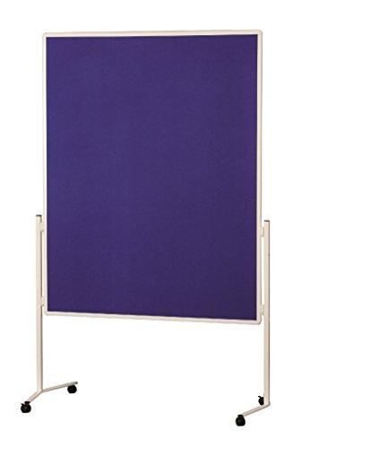 magnetoplan Moderationstafel Filz, blau