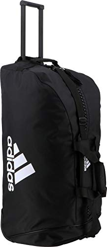 adidas Erwachsene Trolley Bag Polyester Sporttasche, schwarz/weiß, 804037 cm