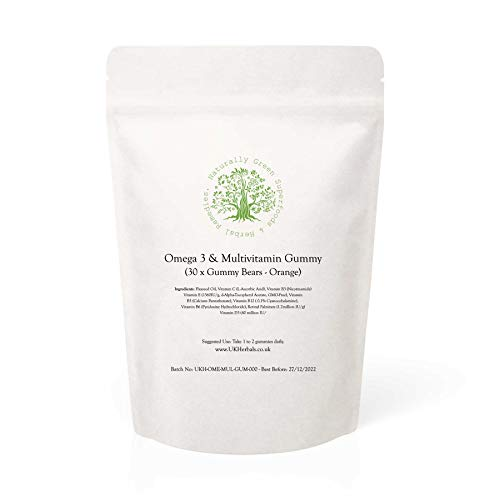 Omega 3 & Multivitamin Gummy Bears - Orange, 30 Gummies