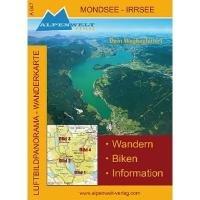 Luftbildpanorama - Wanderkarte - Mondsee - Irrsee