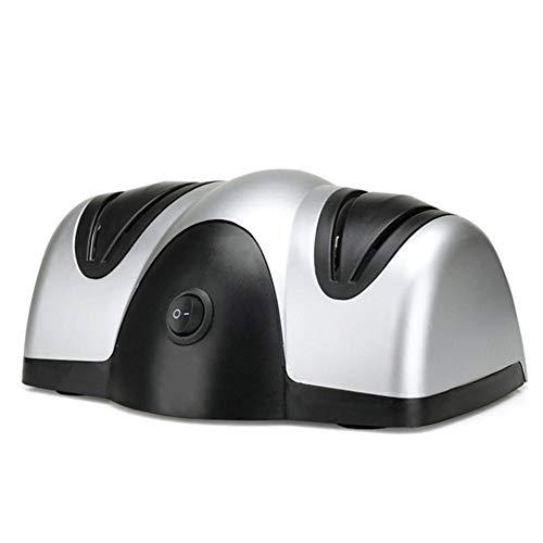 LUOXU Eléctrico de Cuchillos Afiladores, afilador de Cuchillos eléctricos, Afilador de Cuchillos eléctrico multifunción Fast muela eléctrica de 2 etapas Afilador Cuchillos Tijeras Destornilladores