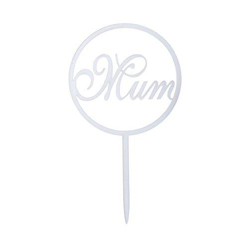 BESTOYARD Moeder Moederdag Cake Topper Acryl Spiegel Cupcake Sticks voor Moederdag Vrouwendag Moeder Verjaardag Party Supplies Decoratie (Zilver)