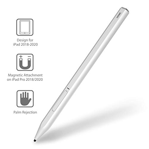 Uogic Pencil for iPad with Palm Rejection, Active Digital Stylus Pen, Compatible with Apple iPad Pro 11/12.9 Inch (2018-2020), iPad 6th/7th Gen, iPad Mini 5th Gen, iPad Air 3rd Gen, Rechargeable