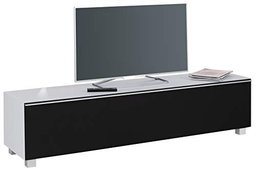 moebel-dich-auf.de Glas seidengrau matt - TV-Board Soundboard Maja 7738 Soundconcept mit Akustikstoff schwarz in 180x43x42cm