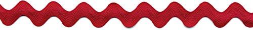 Simplicité 13 mm Ric-rac Bordure et décorations, Rouge