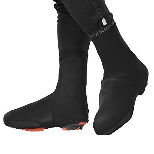 Kuingbhn Fahrradüberschuh Radfahren Schuhe Decken Mountainbike warmes Reiten wasserdichte Überschuh Rennrad Schloss Überschuh geeignet for Reitausrüstung (Farbe : Schwarz, Größe : M)