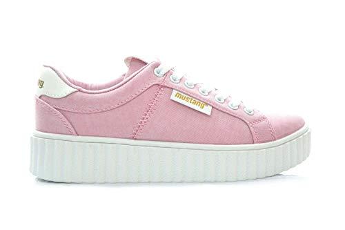 Mustang Sportschuhe Pink Synthetik - für: Damen, Pink - Rosa - Größe: 38 EU