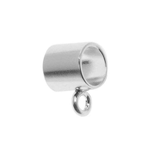 Beadaholique Wide Bail to Attach Charm Bead, Fits Pandora, 5mm, Sterling Silver