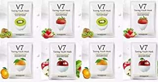 sheet mask 7 vitamins enriched for healthy and beautiful skin pack of 8