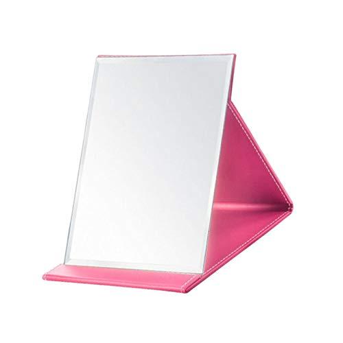 MHBY Espejo de Maquillaje, Espejo Brillante Espejo de Maquillaje Espejo Plegable Espejo Minimalista Espejo de Maquillaje de Moda tamaño L Espejo de Maquillaje Rosa
