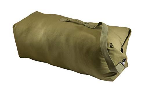Texsport Top Load Canvas Duffle Duffel Travel Bag, Olive Drab, Standard