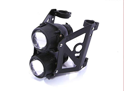 SpeedMotoCo 33mm 32mm Motorcycle Projector Headlight Streetfighter Cafe Racer Naked cb350 etc