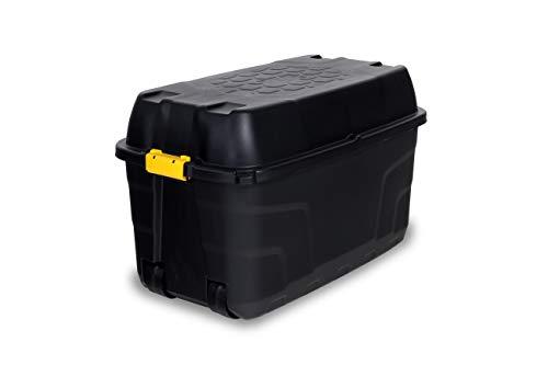 Ondis24 Heavy Duty Storage Box mit Rädern und Deckel stapelbar schwarz (175 Liter)