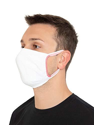 Relaxsan - SET 3 [bianco] Fasce viso bocca naso lavabili riutilizzabili assorbenti tessuto batteriostatico