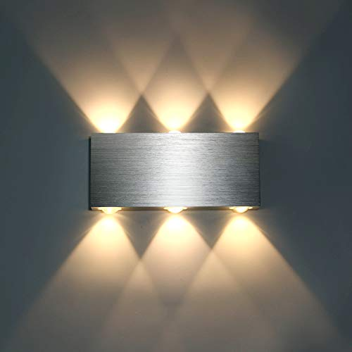 Lightess Apliques de Pared Interior Lámpara de Pared LED Lu