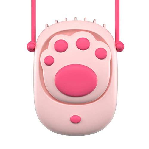 Los fanáticos colgantes del cuello de agua dulce, el mini ventilador de enfriamiento del viaje portátil, la pata de gato pequeños fanáticos de USB con cordón, refrigerador de aire para uso en exterior
