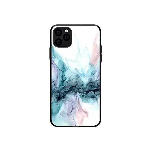 Schutzhülle für iPhone 7 8 Plus 6 6S 5 SE mit Aquarell-Malerei und Marmor für iPhone 12 Mini 11 Pro Max X XS XR-HJ0251-For iPhone 11 Pro