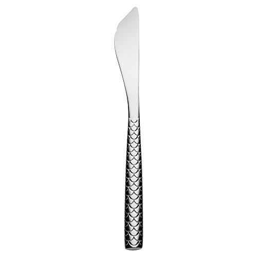 Alessi Fm23/18 Colombina Fish Couteau à Poisson en Acier Aisi 420 Brillant, Set de 6 Pièces