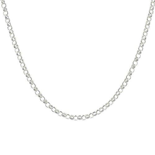 Trendjuwelier huiscollectie 1014745 zilveren ketting jasseron 3,5 mm