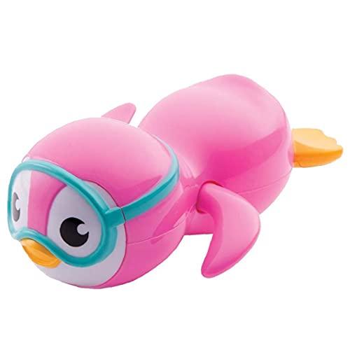 GGOOD Juguete Bath bebé de Juguete de Viento de hasta Pingüino de la natación para los niños pequeños Juguetes Juguetes flotantes Ecológico Rosa Material 1pc educativos