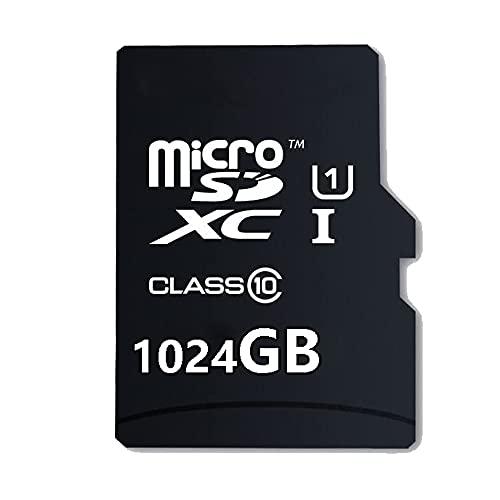 Scheda di memoria Micro SD ad alta velocità 128/256/400/512/1024 GB, progettata per smartphone Android, tablet Classe 10, scheda di memoria SDXC con adattatore (1024GO-02)