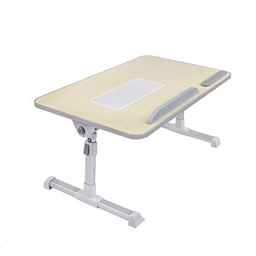 Adjustable Laptop Cooling Stand & Lap Desk for Bed,Can Place The Mouse/Mouse Pad,Foldable Multi-Functional Laptop Bed Table Tray,L