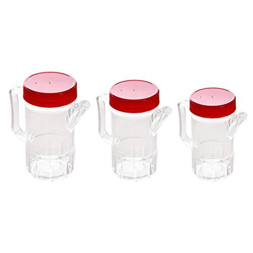 Bonarty 3pcs Botellas De Acrílico Vinagrera De