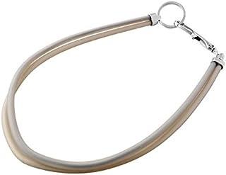 Emporio Armani Plastic Fashion Key Chain - Silver and beige, Size