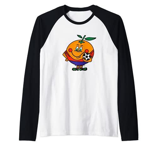 Naranjito Mundial España 82 en la época ochentera de la EGB Camiseta Manga Raglan