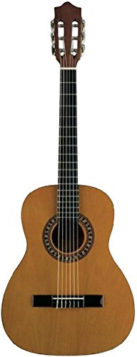 Voggenreiter Konzertgitarre 4/4 naturbraun inkl. Tasche, Buch + CD, Tuner, Plektrum