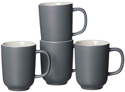 Ritzenhoff & Breker Kaffeebecher-Set Jasper, 4-teilig, je 320 ml, Grau, Steingut